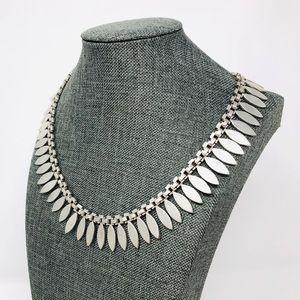 Vtg TAXCO sterling fringe collar necklace, 108.8g